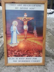 MN clinic Jesus fetus flag