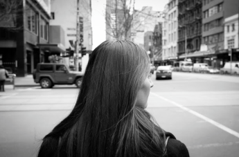 woman in street by colinlogan